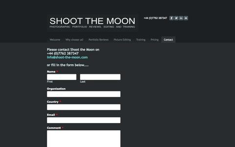 Screenshot of Contact Page shoot-the-moon.org - Contact - SHOOT THE MOON - captured Oct. 7, 2014
