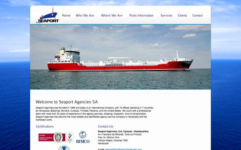 Screenshot of Home Page seaportagencies.com - Seaport Agencies - captured Oct. 3, 2014