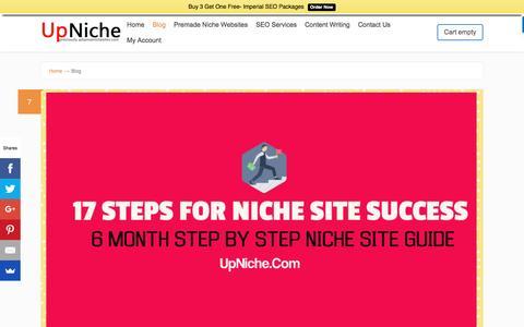 Screenshot of Blog upniche.com - Blog - UpNiche - captured Dec. 5, 2016