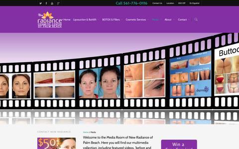 Screenshot of Press Page radianceofpalmbeach.com - Media - New Radiance Cosmetic Center of Palm Beach - captured Nov. 3, 2014
