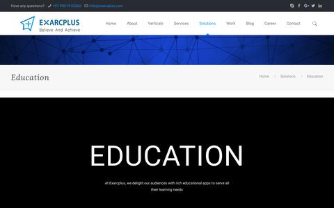 Education - Exarcplus Mobile Apps Pvt Ltd.
