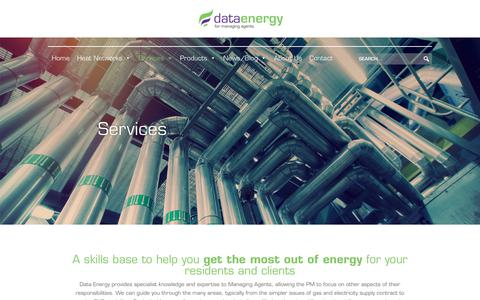 Screenshot of Services Page dataenergy.co.uk - Services - Data Energy - captured Aug. 5, 2018