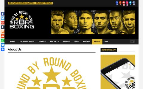 Screenshot of About Page roundbyroundboxing.com - Round By Round Boxing About Us - captured Sept. 21, 2018