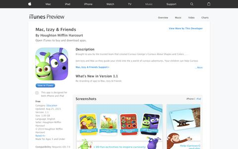 Mac, Izzy & Friends on the App Store