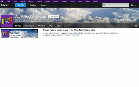 Screenshot of Flickr Page flickr.com - Flickr: The Attrix Technologies Pool - captured Oct. 23, 2014