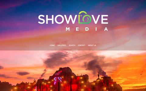Screenshot of Home Page showlovemedia.com - ShowLove Media - captured Sept. 21, 2018