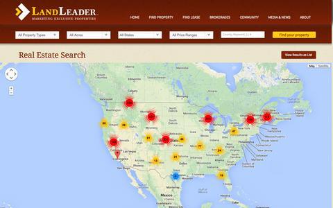 Screenshot of Maps & Directions Page landleader.com - Real Estate Search | LandLeader - captured Sept. 29, 2014