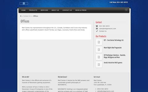 Screenshot of Team Page reelgamesinc.com - Offices | Reel Games - captured Oct. 9, 2014