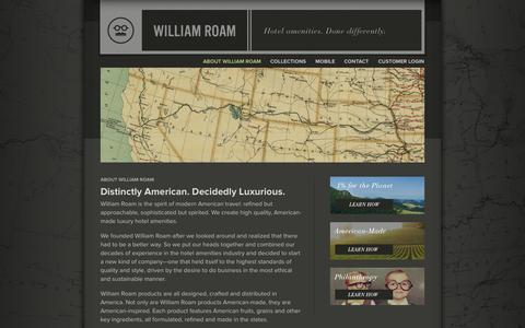 Screenshot of About Page williamroam.com - About - William Roam - captured Oct. 26, 2014