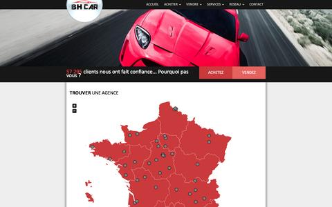 Screenshot of Contact Page bhcar.fr - Contact  » BHCar - captured Aug. 23, 2016