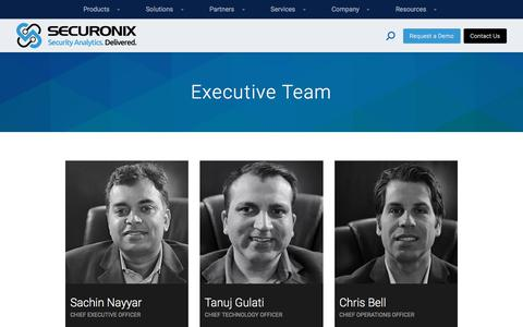 Executive Team - Securonix