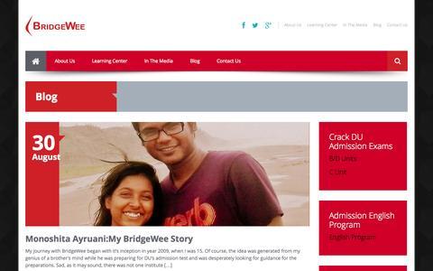 Screenshot of Blog bridgewee.com - Blog | BridgeWee - captured Sept. 30, 2014
