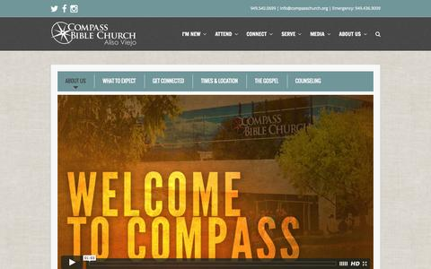 Screenshot of About Page compasschurch.org - About Us | Compass Bible Church - captured Nov. 2, 2014