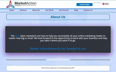 Screenshot of About Page marketactionresearch.com - About Us - Market Action Research, Inc - captured Oct. 17, 2017