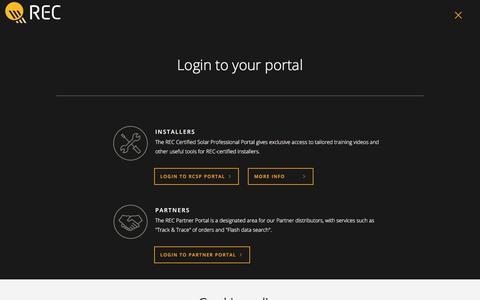 Screenshot of Login Page recgroup.com - Login to your portal | REC Group (USA) - captured Jan. 21, 2020