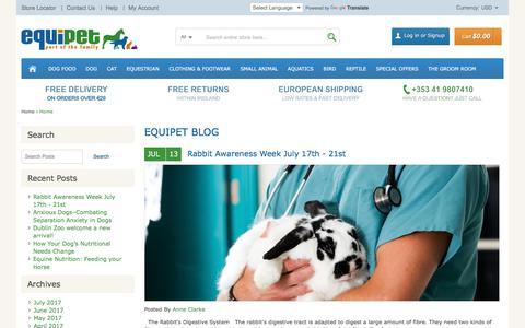 Screenshot of Blog equipetstores.com - EQUIPET BLOG - captured Aug. 15, 2017