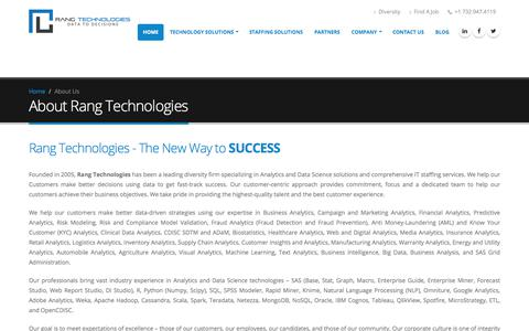 Screenshot of About Page rangtech.com - About Us | Rang Technologies - captured Nov. 12, 2017