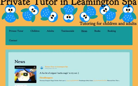 Screenshot of Press Page leamingtontutor.com - News - Private Tutor in Leamington Spa - captured Jan. 31, 2016