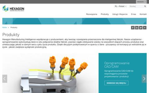 Screenshot of Products Page hexagonmi.com - Produkty | Hexagon Manufacturing Intelligence - captured Oct. 21, 2018
