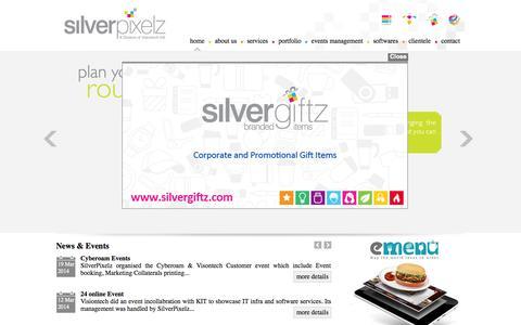 Screenshot of Home Page silverpixelz.com - Silver Pixelz - captured Oct. 1, 2014