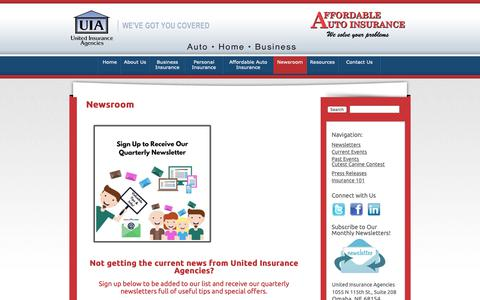 Screenshot of Press Page uiagencies.com - United Insurance Agencies | News | United Insurance Agencies - captured Oct. 19, 2018
