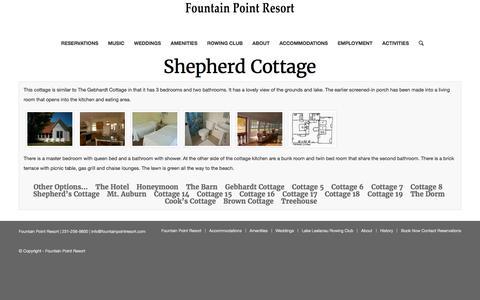 Shepherd Cottage – Fountain Point Resort