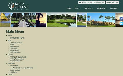 Screenshot of Site Map Page bocagreenscountryclub.com - Boca Greens Country Club | Public Championship Florida Golf Course - Sitemap - captured June 2, 2017