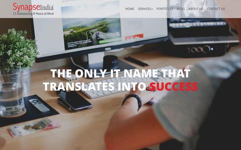 Screenshot of Home Page synapseindia.com - Software Development India | Web Development India | Software Development Company | Website Development - captured Oct. 16, 2015
