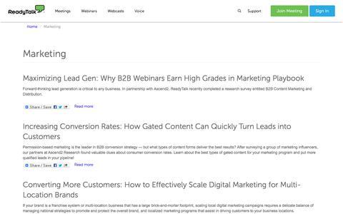 Marketing | ReadyTalk