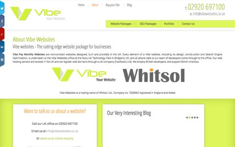 Screenshot of About Page vibewebsites.co.uk - About your Pay Monthly Website from Vibe Web Design - captured March 3, 2016