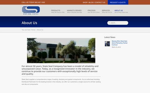 Screenshot of About Page stateseal.com - About Us - State Seal Company   State Seal Company - captured Oct. 7, 2014