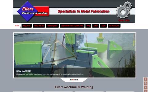 Screenshot of Home Page eilersmachine.com - Eilers Machine & Welding - captured Oct. 2, 2014