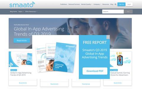 Screenshot of Blog smaato.com - Blog | Smaato - captured Nov. 21, 2019