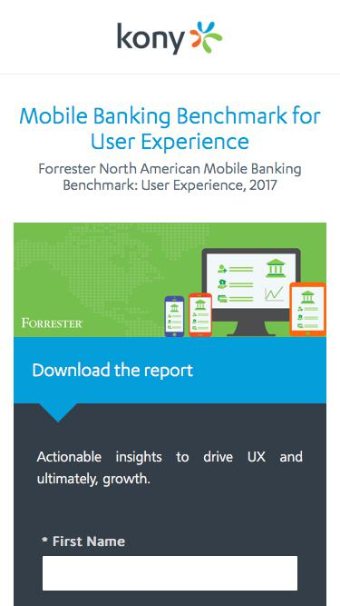 Kony   Mobile Banking Benchmark for User Experience