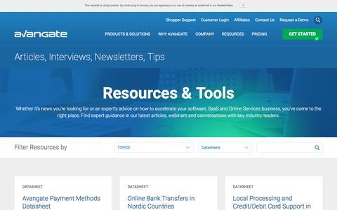 Screenshot of avangate.com - Software News   Commerce Resources   eCommerce Trends - captured March 3, 2017