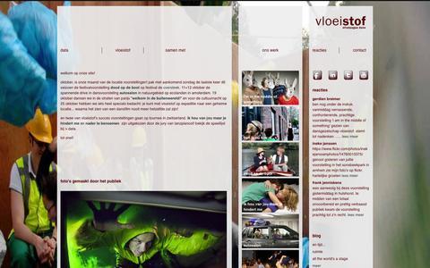 Screenshot of Home Page vloeistof.nl - Vloeistof | - captured Sept. 30, 2014
