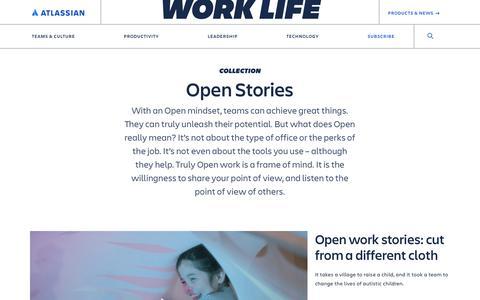 Screenshot of Blog atlassian.com - Open Stories Archives - Work Life by Atlassian - captured Feb. 8, 2020