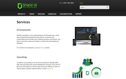 Screenshot of Services Page shieldui.com - Services | Shield UI - captured Nov. 4, 2014