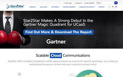 Screenshot of Home Page star2star.com - Star2Star: World's Only Scalable Cloud Communications Solution - captured Sept. 24, 2014