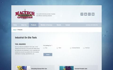 Screenshot of Products Page mactechoffshore.com - Products - Mactech Offshore - captured Sept. 30, 2014