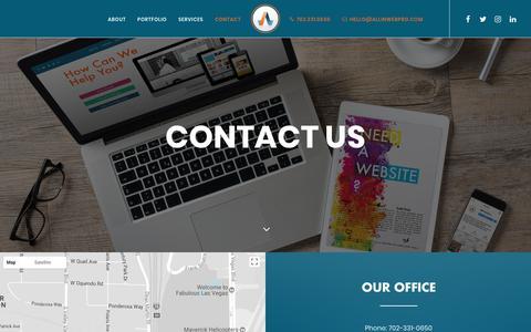 Screenshot of Contact Page allinwebpro.com - Contact - Las Vegas Web Design - captured Oct. 8, 2017