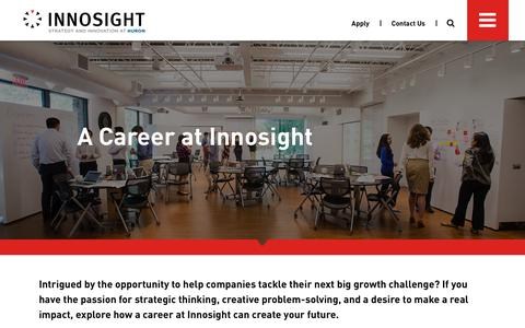Screenshot of Jobs Page innosight.com - Innovation Consulting Careers | Innosight - captured June 7, 2017