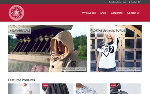 Screenshot of Home Page purus.lt - Purus | online store - captured Oct. 3, 2014