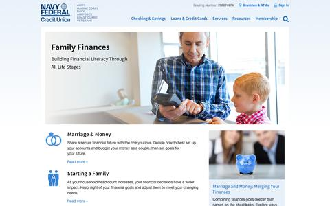 Family Finances | Navy Federal Credit Union