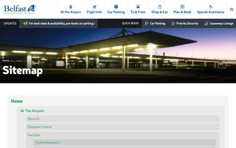 Screenshot of Site Map Page belfastairport.com - Sitemap | Belfast International Airport - captured Oct. 5, 2018
