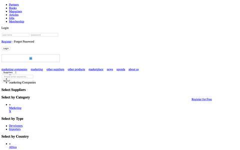 Screenshot of Developers Page marketing1.com - Marketing Companies - Marketing 1.com - captured March 5, 2016
