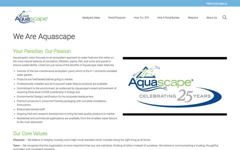 Screenshot of About Page aquascapeinc.com - About Aquascape - captured Aug. 23, 2017