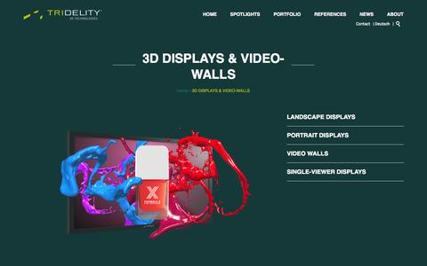 Screenshot of Products Page tridelity.com - 3D DISPLAY & 3D VIDEO-WALL - TRIDELITY 3D - captured Oct. 9, 2014