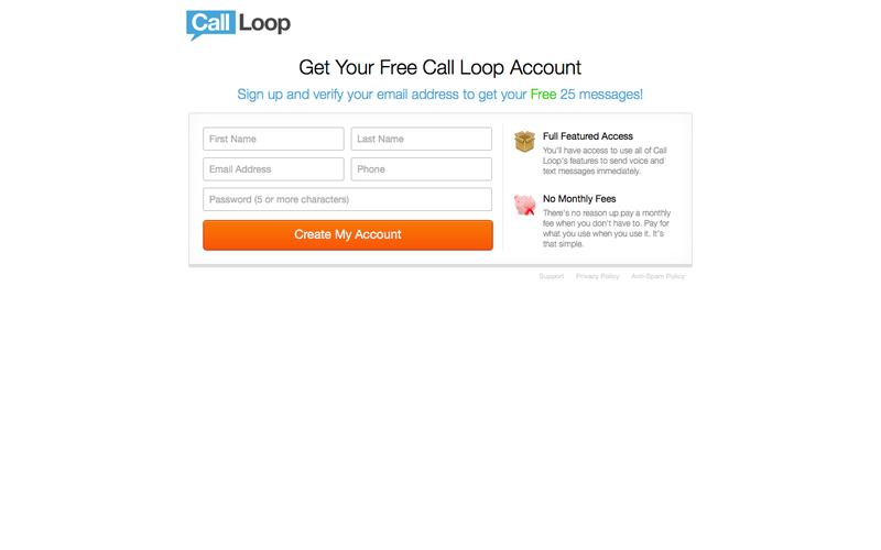 Call Loop | Sign Up