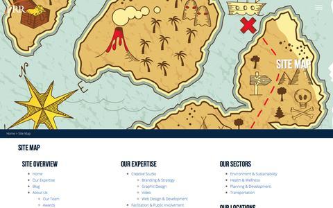 Screenshot of Site Map Page prrbiz.com - Site Map | PRR Biz - captured Oct. 12, 2016